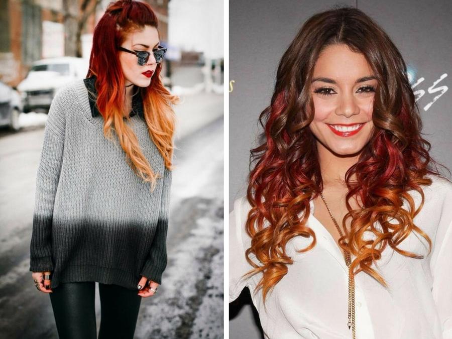 Shatush rosso  l ultima tendenza capelli  599f0c49fad3