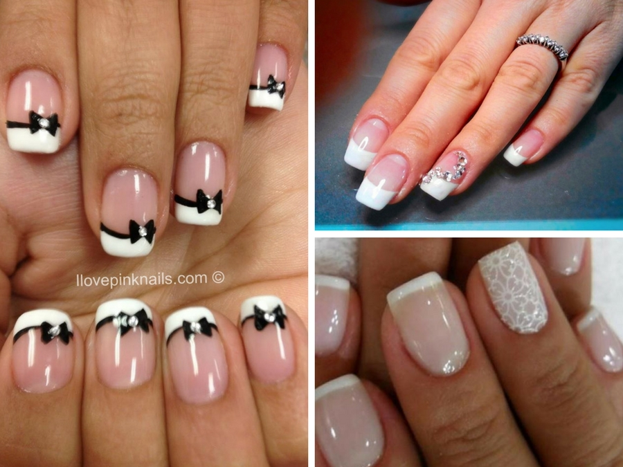nail art french bianco