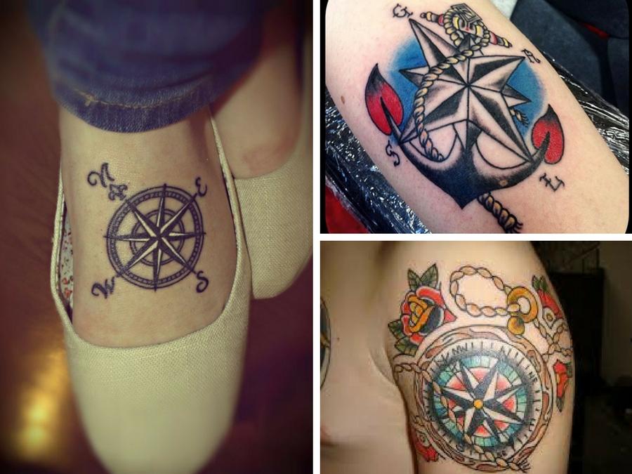 Rosa dei venti tattoo foto e significato style girl for Bussola tattoo significato