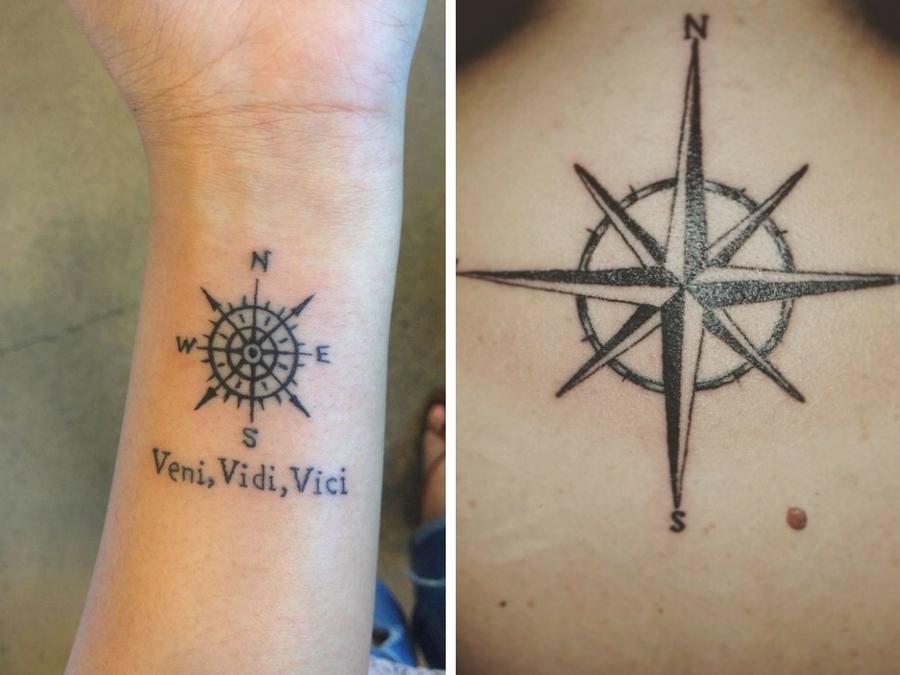 Tatuaggi bussola con rosa dei venti significato tatuaggio for Tattoo bussola significato