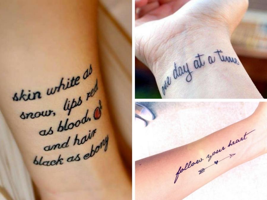 Très Tatuaggi scritte braccio: consigli e immagini da copiare | Style Girl AR42