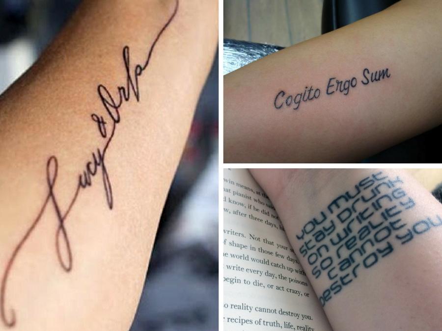 Très Tatuaggi scritte braccio: consigli e immagini da copiare | Style Girl WQ51