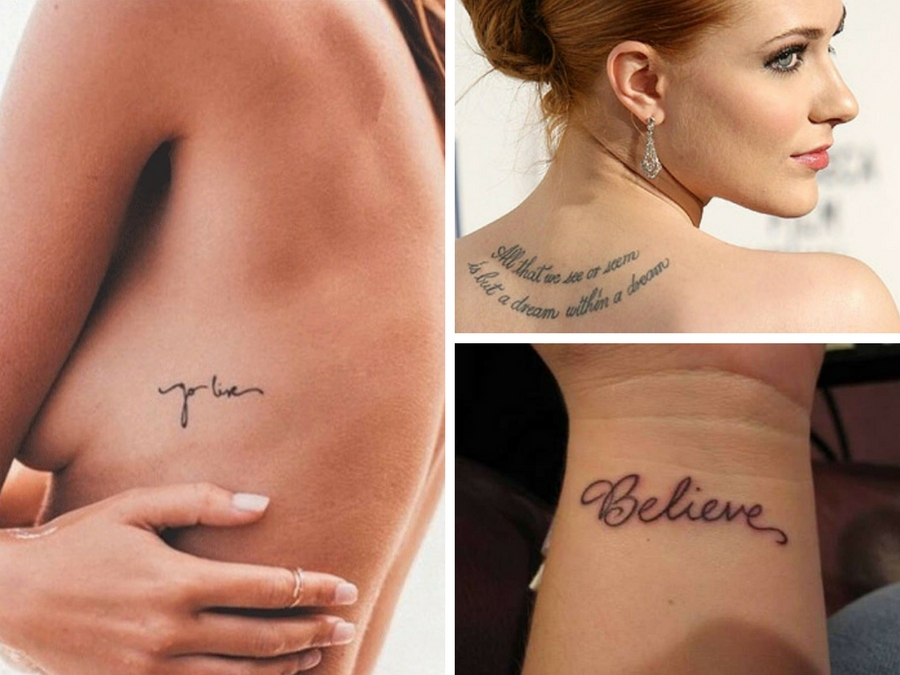 Très Tatuaggi scritte piccole: consigli e immagini | Style Girl AR42