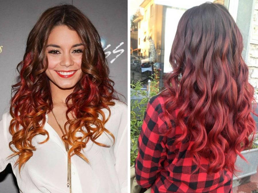 Shatush rosso capelli castani  9f19c662ba41