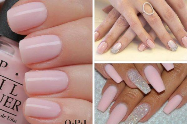 unghie gel rosa cipria