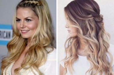 Acconciature semiraccolte capelli lunghi