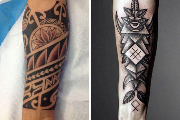 Tatuaggi maori avambraccio