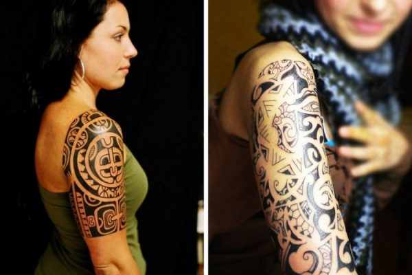 tatuaggi maori braccio