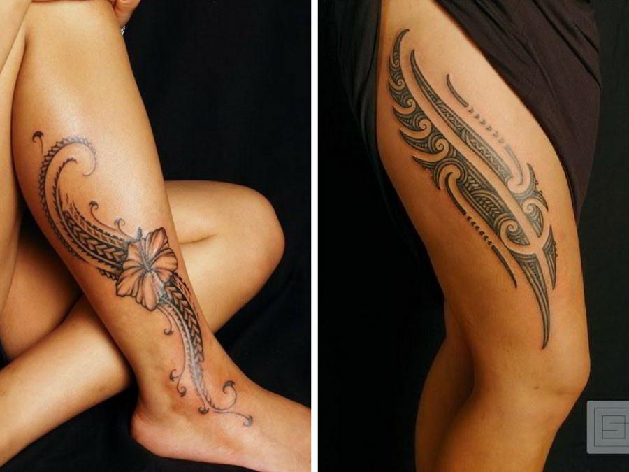Tatuaggi maori gambe